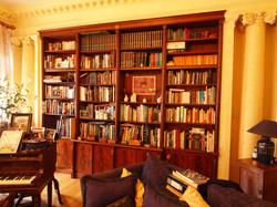 Mahogany bookcase with secret door