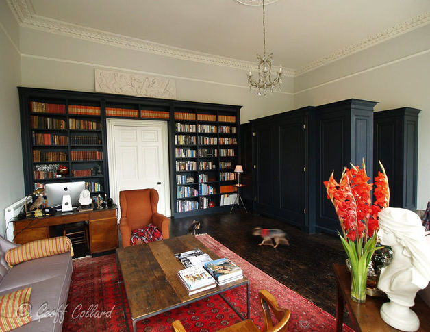 Black painted bookcase