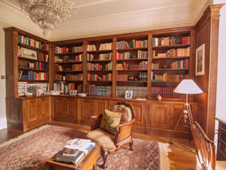 Library in solid oak