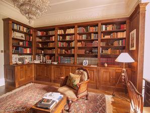 Library in solid oak