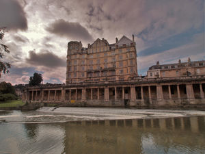 Stormy sky over Bath