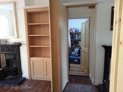 Simple mdf bookcase open
