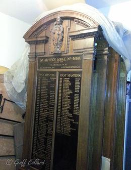 Bath Free Masons Honours Board before photo
