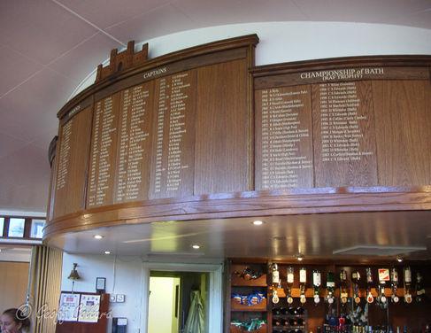 Honours Boards at Bath Golf Club