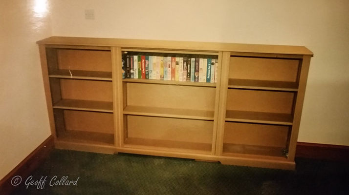 Bookcase in childs bedroom