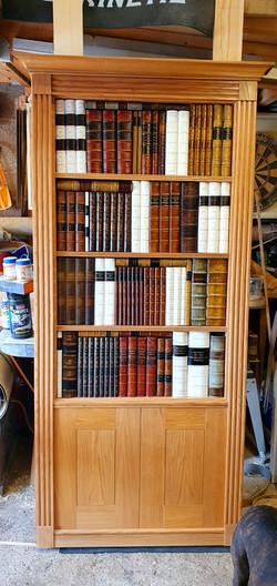 Solid Oak Faux Bookcase Door