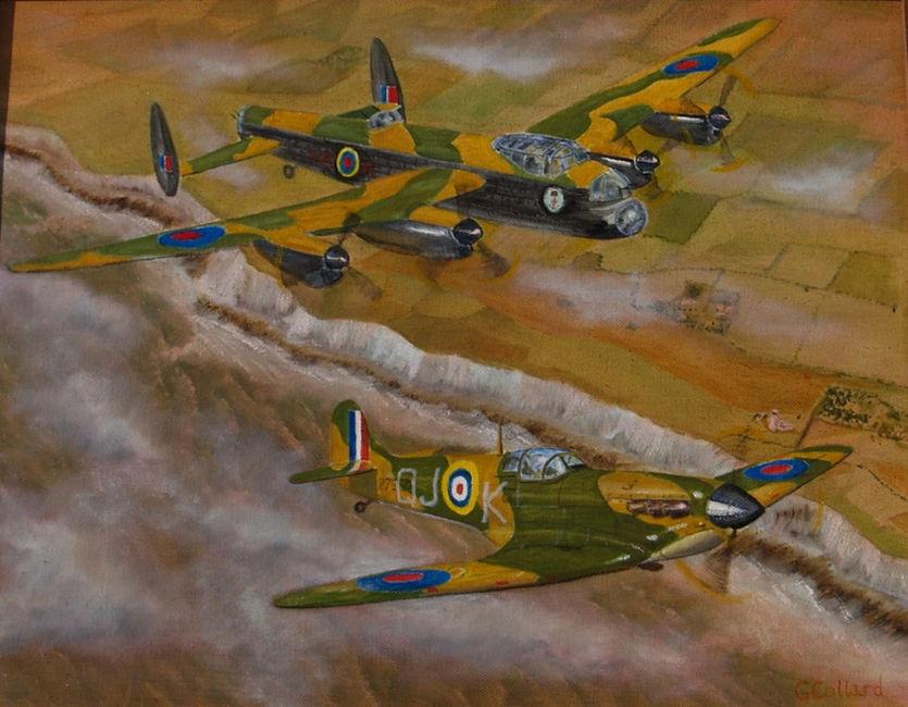 Spitfire & Lancaster over Dover