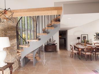 Helical Stairs in Oak