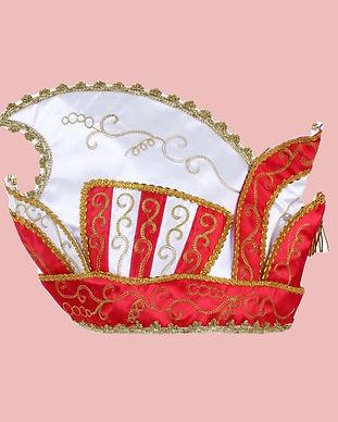 Prins-Carnaval-steek-muts-rood-wit-goud%
