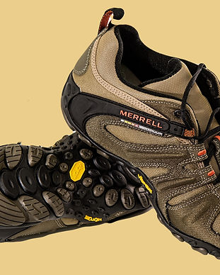 brown-and-black-merrell-hiking-shoes-406