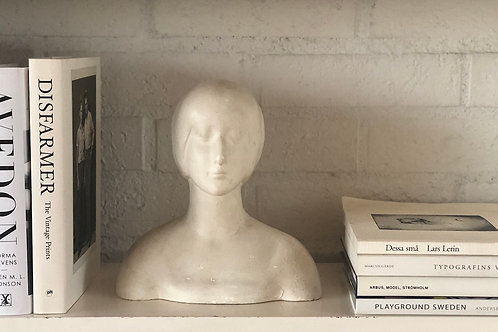 PAINTED PLASTER BUST OF A YOUNG WOMAN TBC