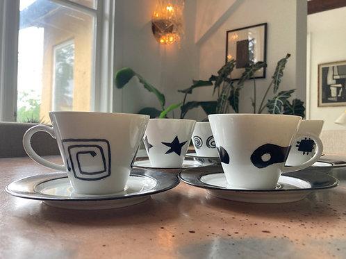COFFEE CUPS BAVARIA WEST GERMANY   900 SEK