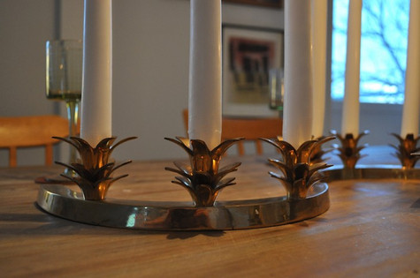 PALM TREE LEAF CURVED CANDLE HOLDERS