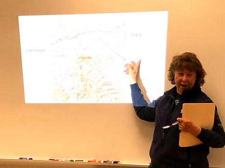 Pat Gordon, Ohlone Audubon Society, speaking on Tesla Park Issues.