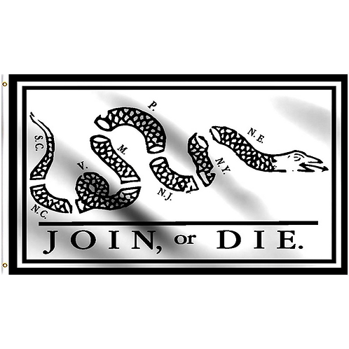 Join or Die Flag: 3 ft x 5 ft