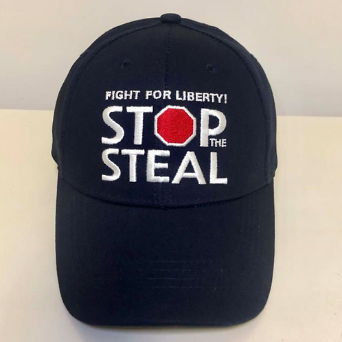 """""""Stop The Steal"""" Cap - Available in Navy Blue"""