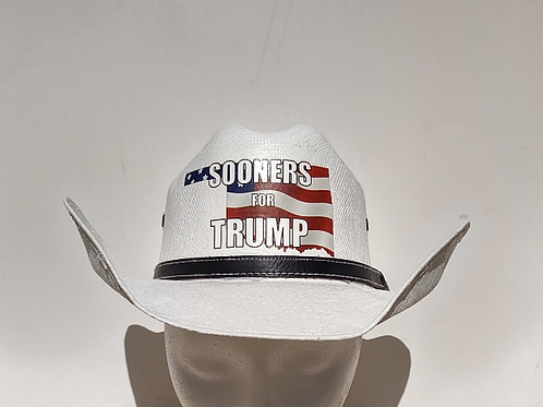 Sooners For Trump Cowboy Hat
