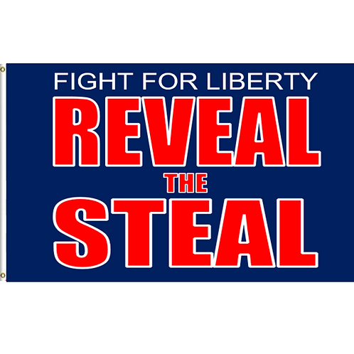 Reveal The Steal Banner: 3 ft x 5 ft