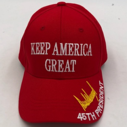 """Keep America Great"" Signature Cap - Available in Red, White, Pink And Black"