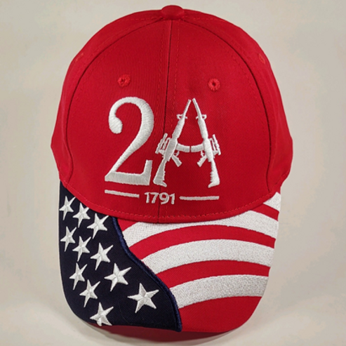 Second Amendment Cap - Available in Red