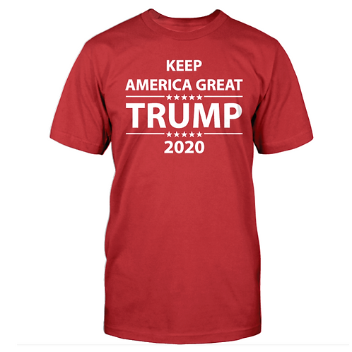 Trump Keep America Great 2020 T-Shirt - Available in Red, White or Blue