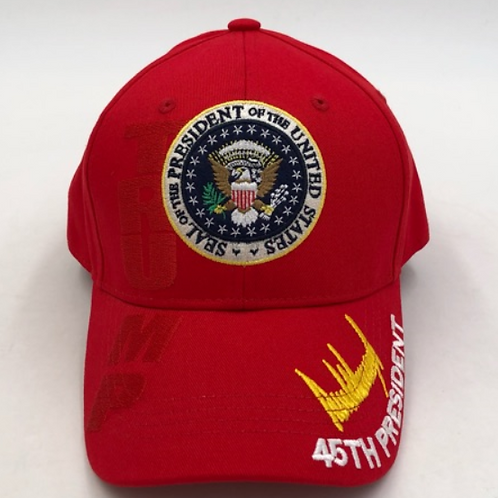Trump Presidential Seal Cap - Available in Red and White