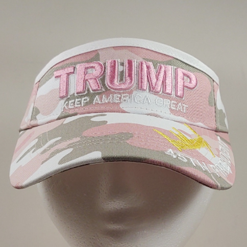 "Trump Pink Camo ""Keep America Great"" Signature Visor"