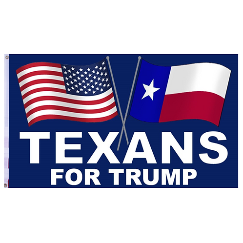 Texans For Trump Flag: 3 ft x 5 ft