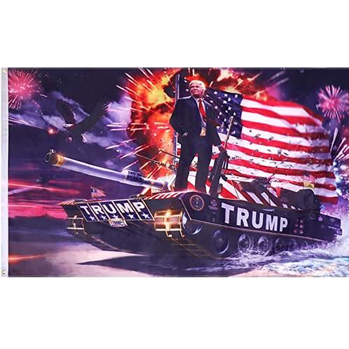 Trump Tank Flag: 3 ft x 5 ft