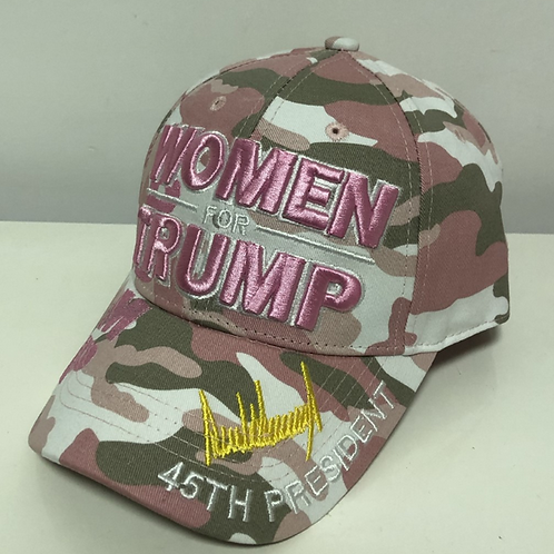 Women For Trump Cap – Available in pink and pink camo