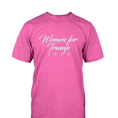 Women For Trump 2020 T-Shirt - Available in Pink and Black
