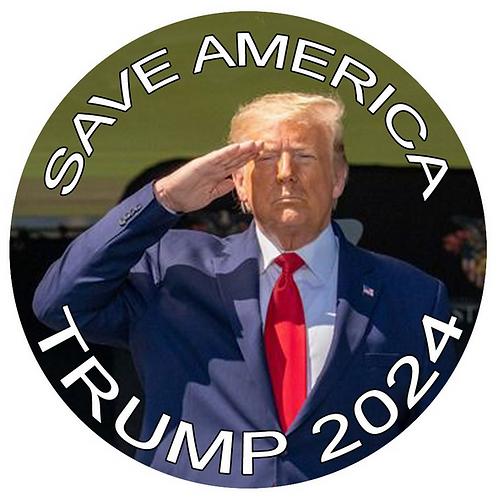 "Save America Trump 2024 metal button (diameter: 3"")"