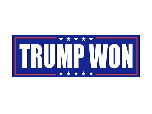 Trump Won bumper sticker