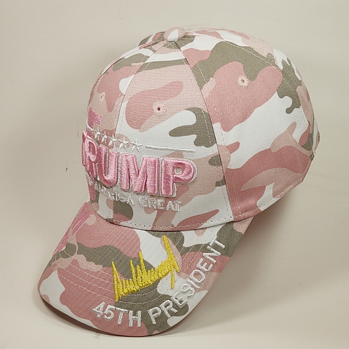 Trump Keep America Great Signature Camo Cap - Available in Pink Camo