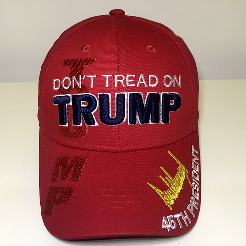 Don't Tread On TRUMP cap - Available in red, green camo, blue & black
