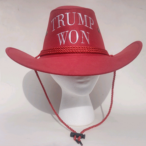 Trump Won Cowboy Hat - Available in Pink and Red