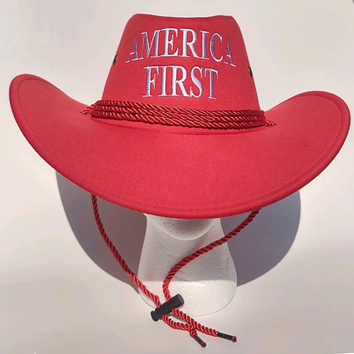 America First Cowboy Hat - Available in Pink and Red