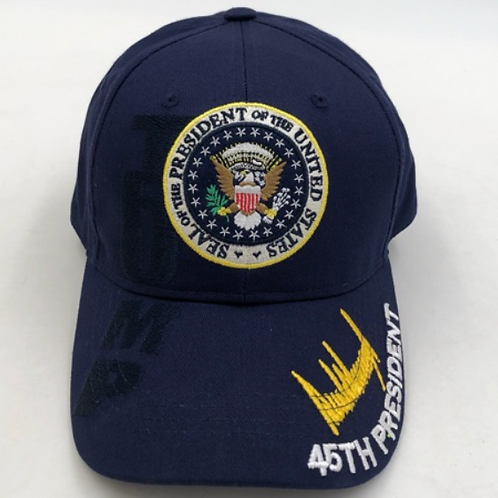 Trump Presidential Seal Cap - Available in Red, White and Blue