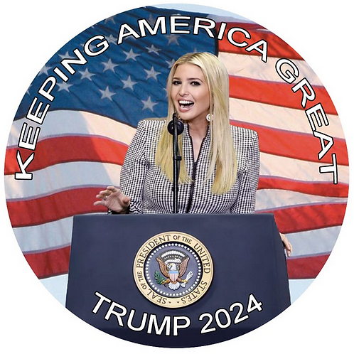 """Keeping America Great"" Trump 2024 metal button (diameter: 3 inches)"
