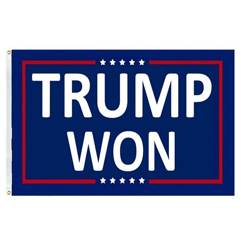 Trump Won Banner: 3 ft x 5 ft