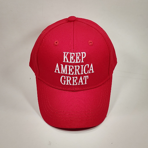 """Children's """"Keep America Great"""" cap. Available in red and pink."""