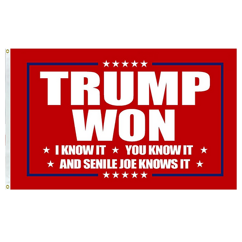Trump Won Red Banner: 3 ft x 5 ft