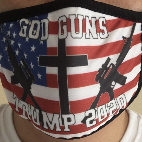 GOD GUNS TRUMP 2020 Face Mask
