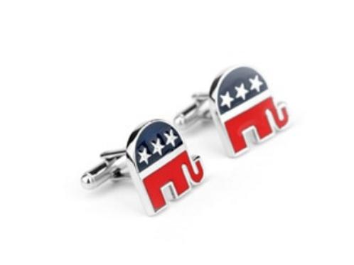 Republican Elephant Cufflinks (Set of 2)