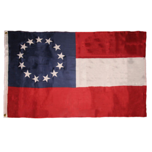 Confederate National Flag: 3 ft x 5 ft