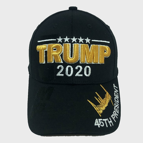"Trump Gold ""2020"" Signature Cap - Available in black"