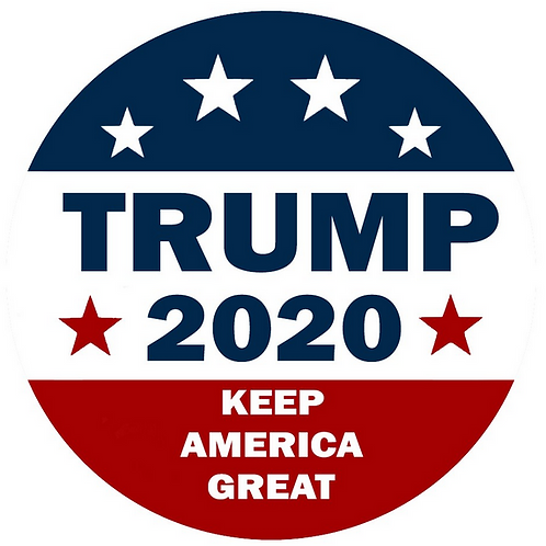 "Trump ""2020 Keep America Great"" metal button (diameter: 3 inches)"