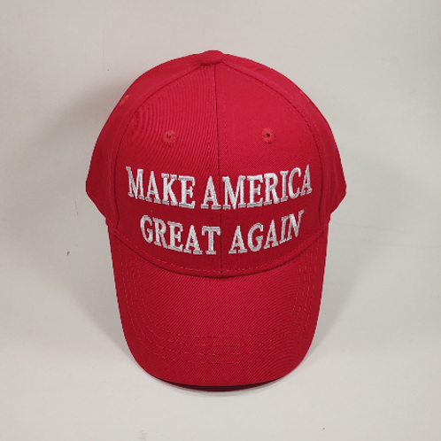 """Children's """"Make America Great Again"""" cap. Available in red and pink."""