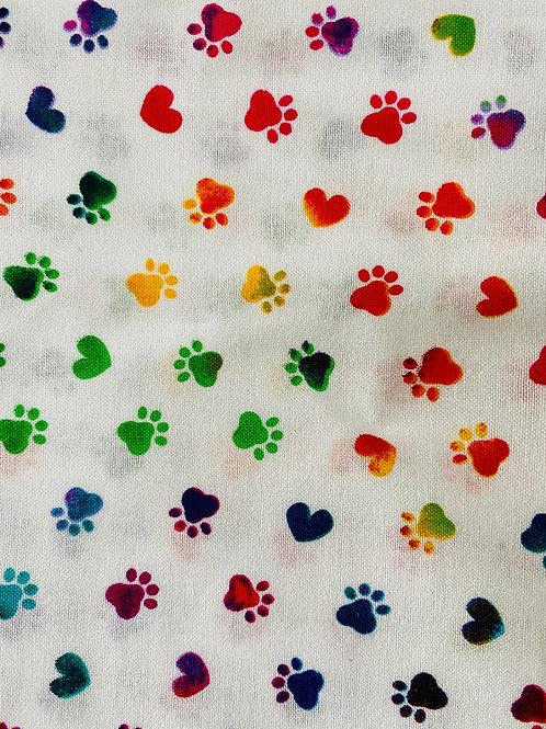 Colorful Paw Prints