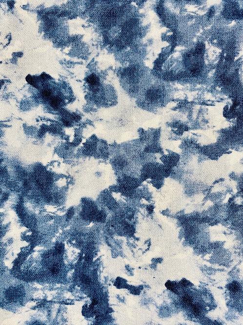 Dark Blue and White Tie Die